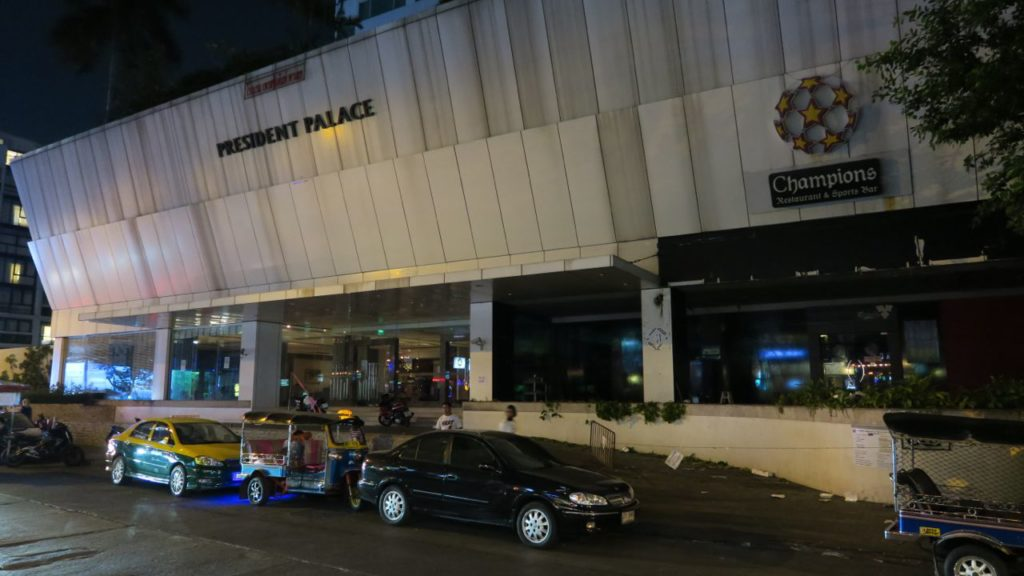 Here is the now closed President Palace Hotel on Soi 11. I had many a good night here.